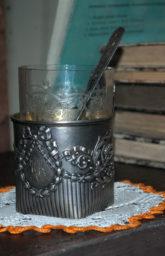 Подстаканник и чайная ложечка, принадлежавшие В.О. Ключевскому. Конец  XIX - начало  XX