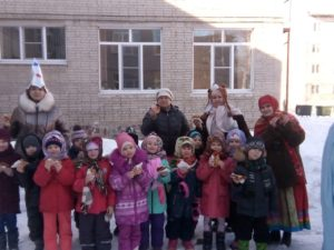 Сотрудники Музея им. И.Н. Ульянова провели масленицу в Детском саду N130