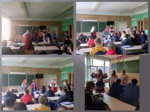 Сотрудники Пензенского краеведческого музея провели в Пензенском колледже информационных и промышленных технологий лекции «Про наряды и обряды»
