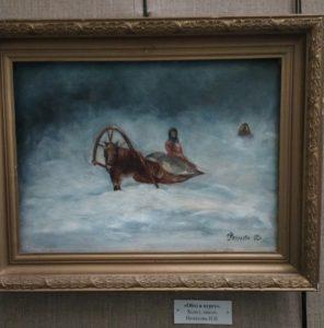 В музее народного творчества начала работать выставка «Зимние просторы»