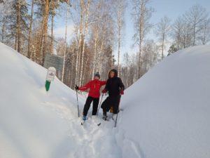 Лыжный поход по сказочному заснеженному лесу на территории Золотаревского городища