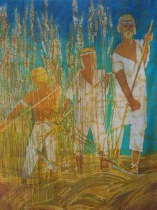 В музее народного творчества начала работать выставка батиков Т. Чагоровой